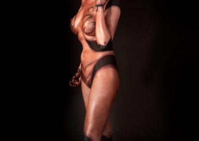Bodypainting door Bodyon, model Diana